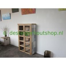Massief Eiken Patchwork kast